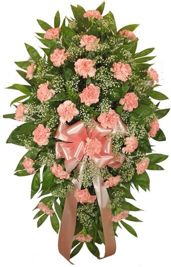 Timeless Traditions Pink Carnation Standing Easel Spray