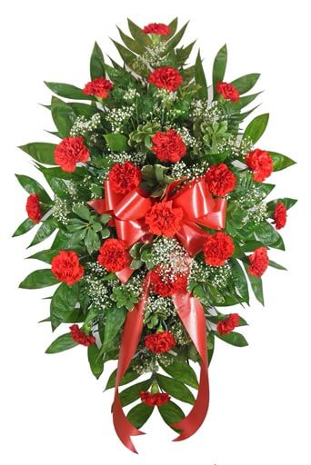 Timeless Traditions Red Carnation Standing Easel Spray